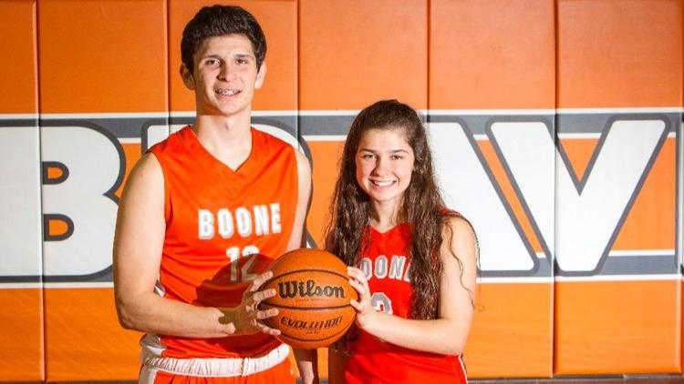 Madeline Morales followed her big brother, Jordan, into the sport of basketball and into Boone's starting line this season as a ninth grader.