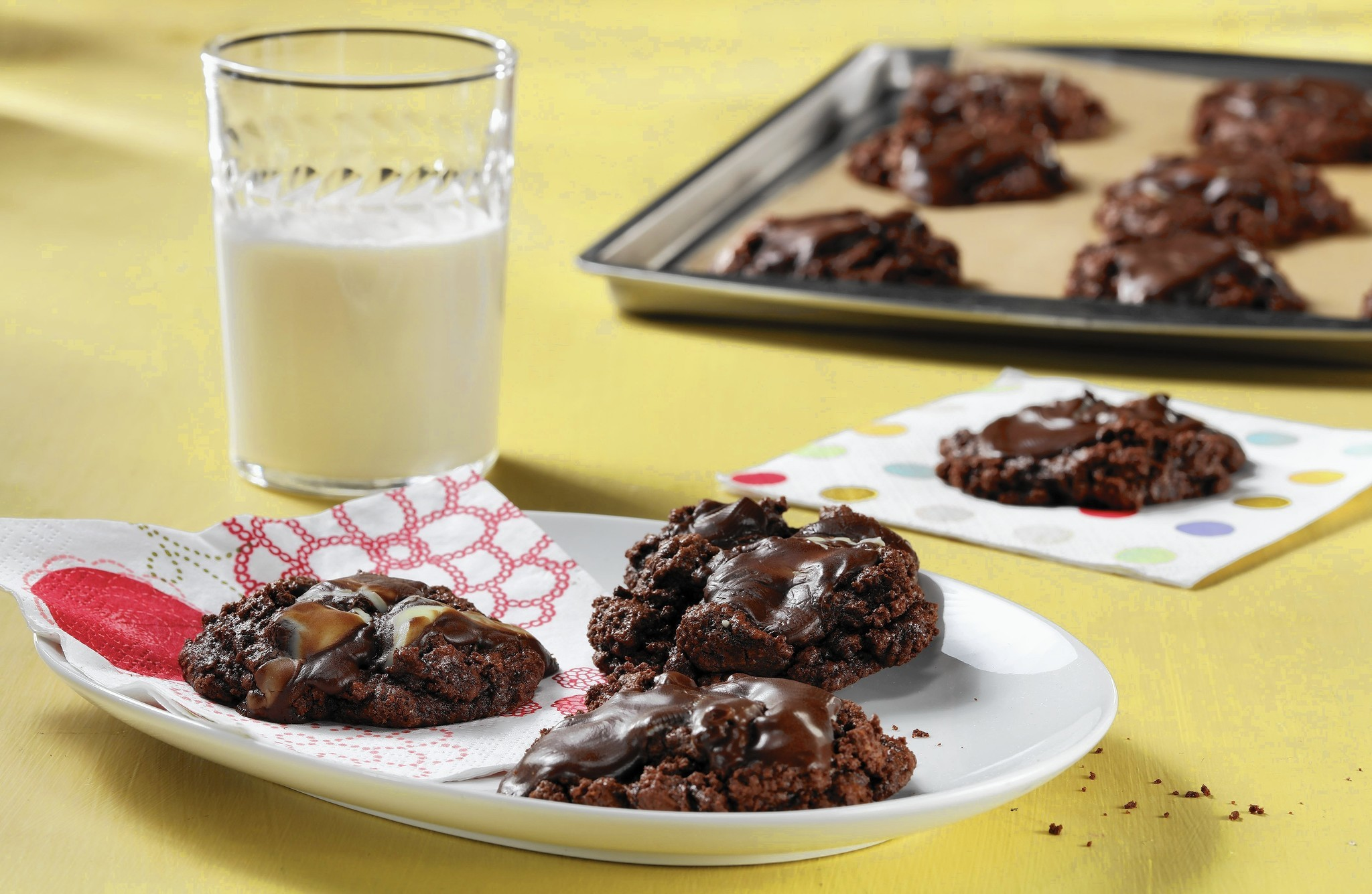 Chocolate mint cookies answer a late-night craving