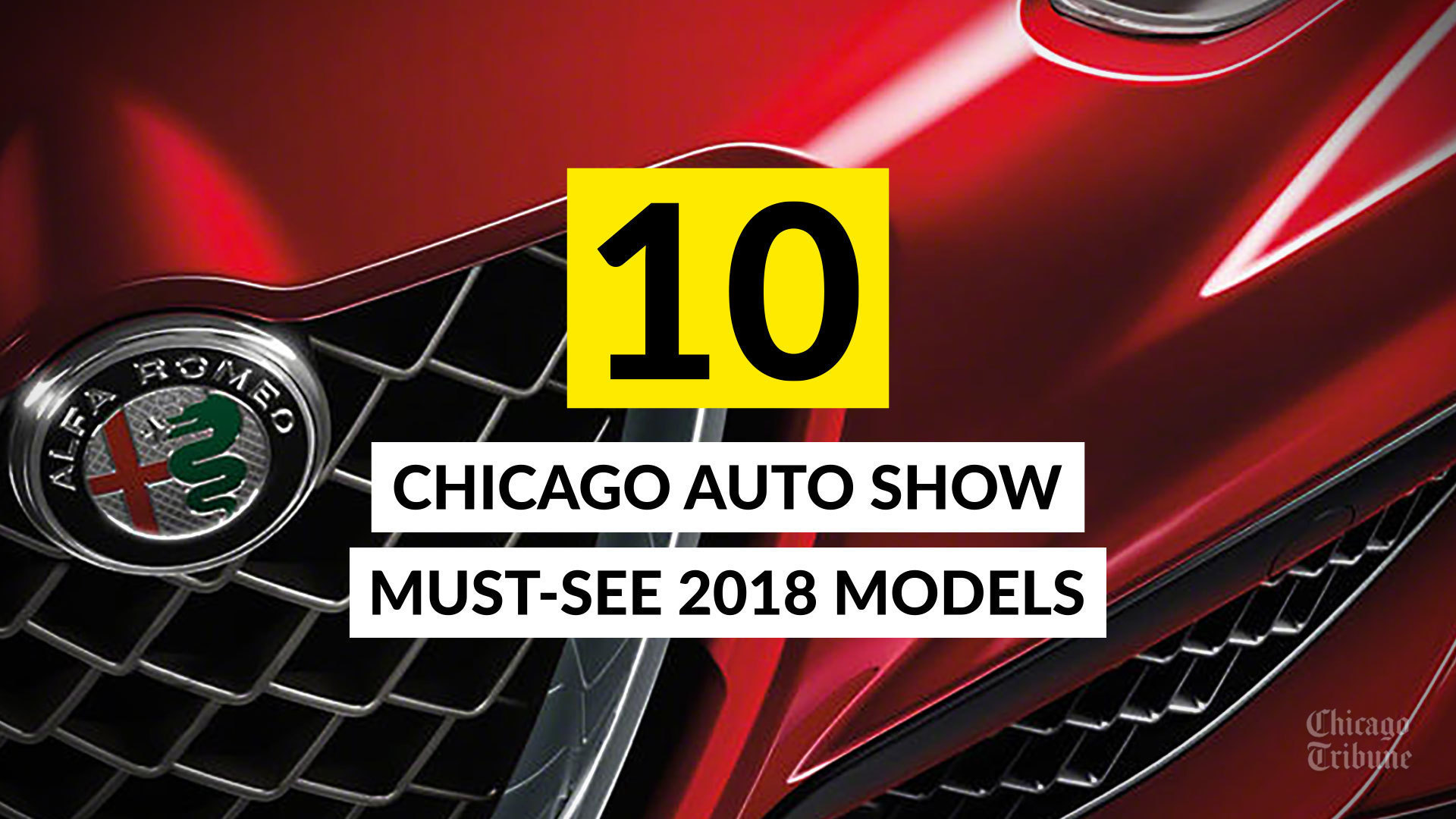 10 Chicago Auto Show must see 2018 models Chicago Tribune