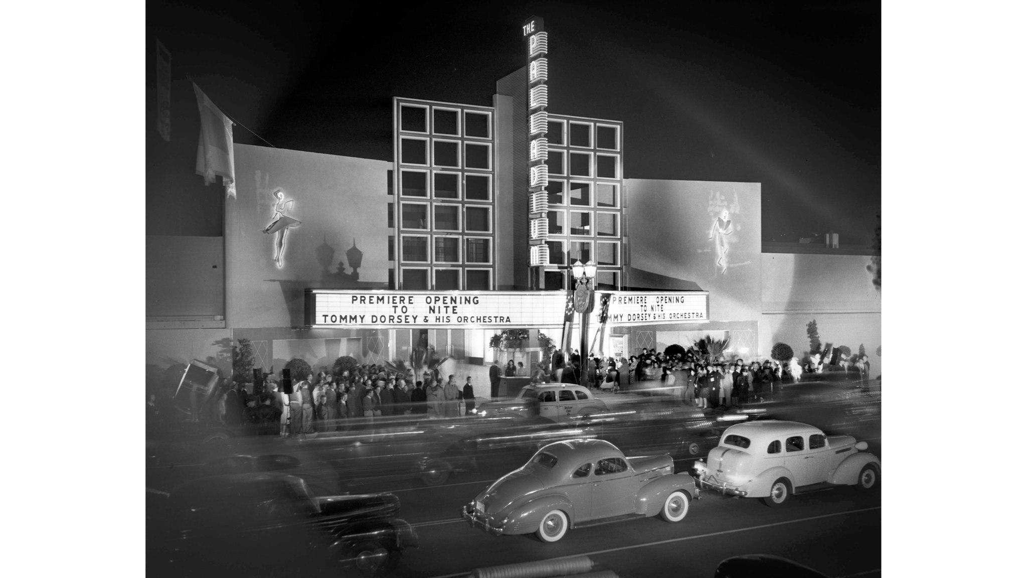 The Hollywood Palladium opens on Oct. 31, 1940. (Los Angeles Times)