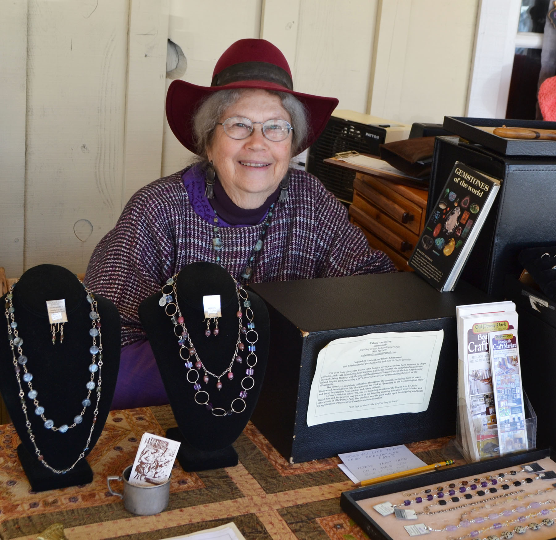 Silversmith Valerie Ann Bailey, who has been with the Boardwalk Craft Market since the beginning.