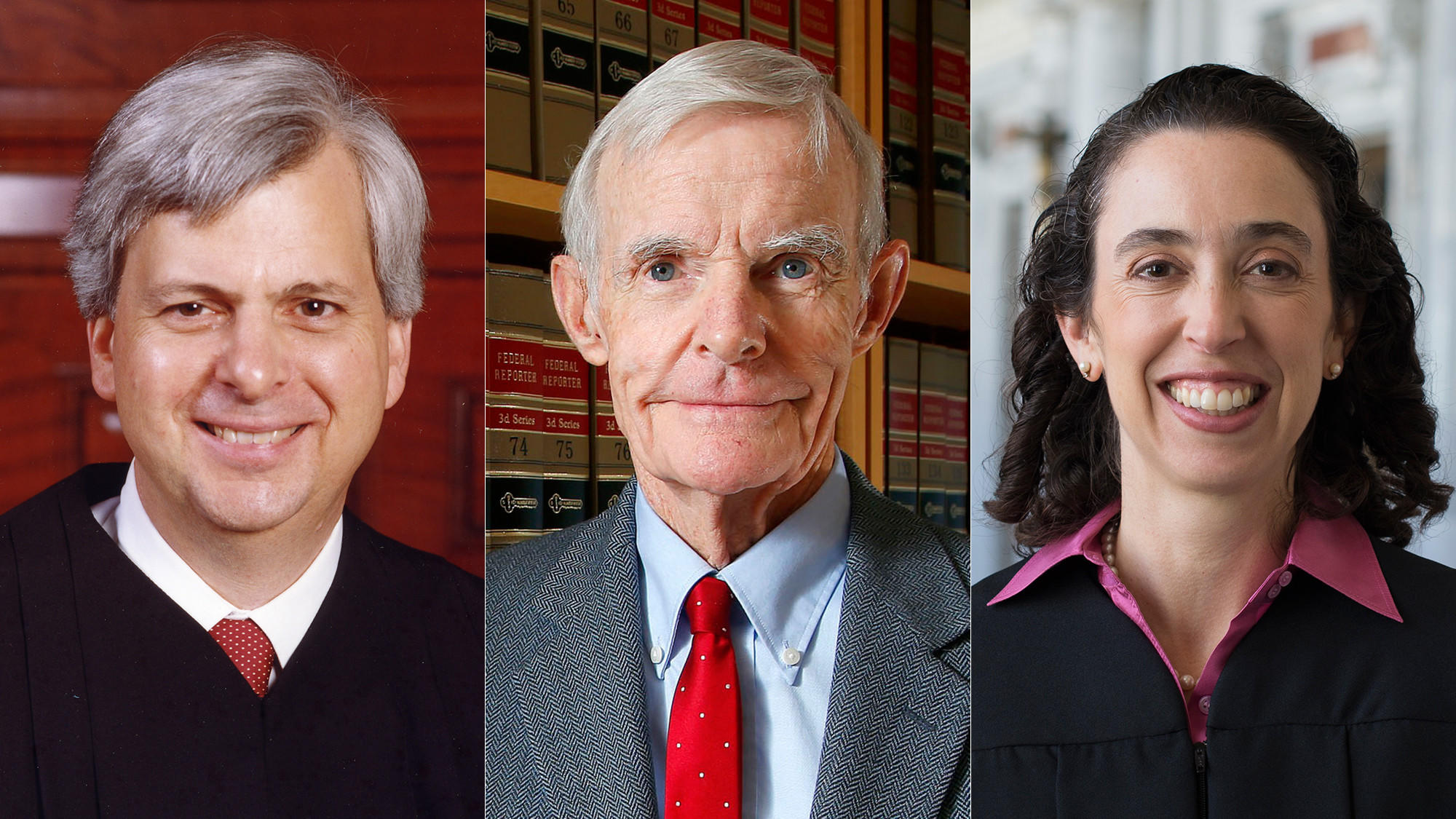 Judges Richard R. Clifton, William Canby and Michelle T. Friedland are on the 9th Circuit Court panel that's  considering President Trump's travel ban. (Associated Press)