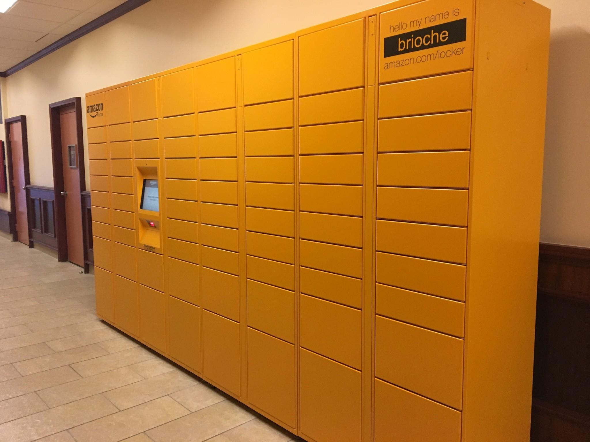 amazon lockers reach the peninsula daily press. Black Bedroom Furniture Sets. Home Design Ideas