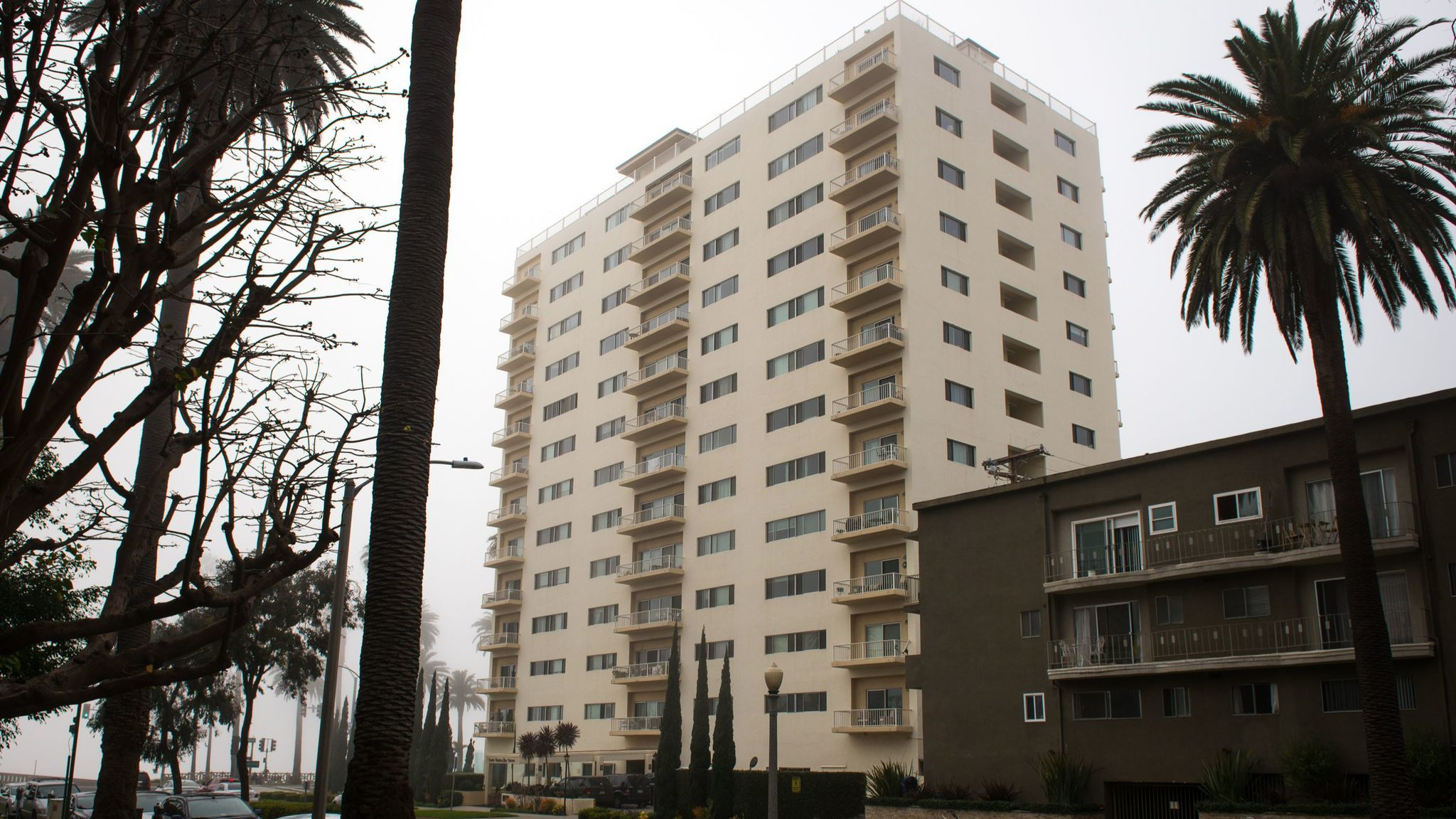 A 13-story condominium, listed by the city as a steel moment-frame building, could be required to undergo a seismic evaluation under a proposed law. City records say there are 79 steel moment-frame buildings that could be vulnerable in an earthquake.