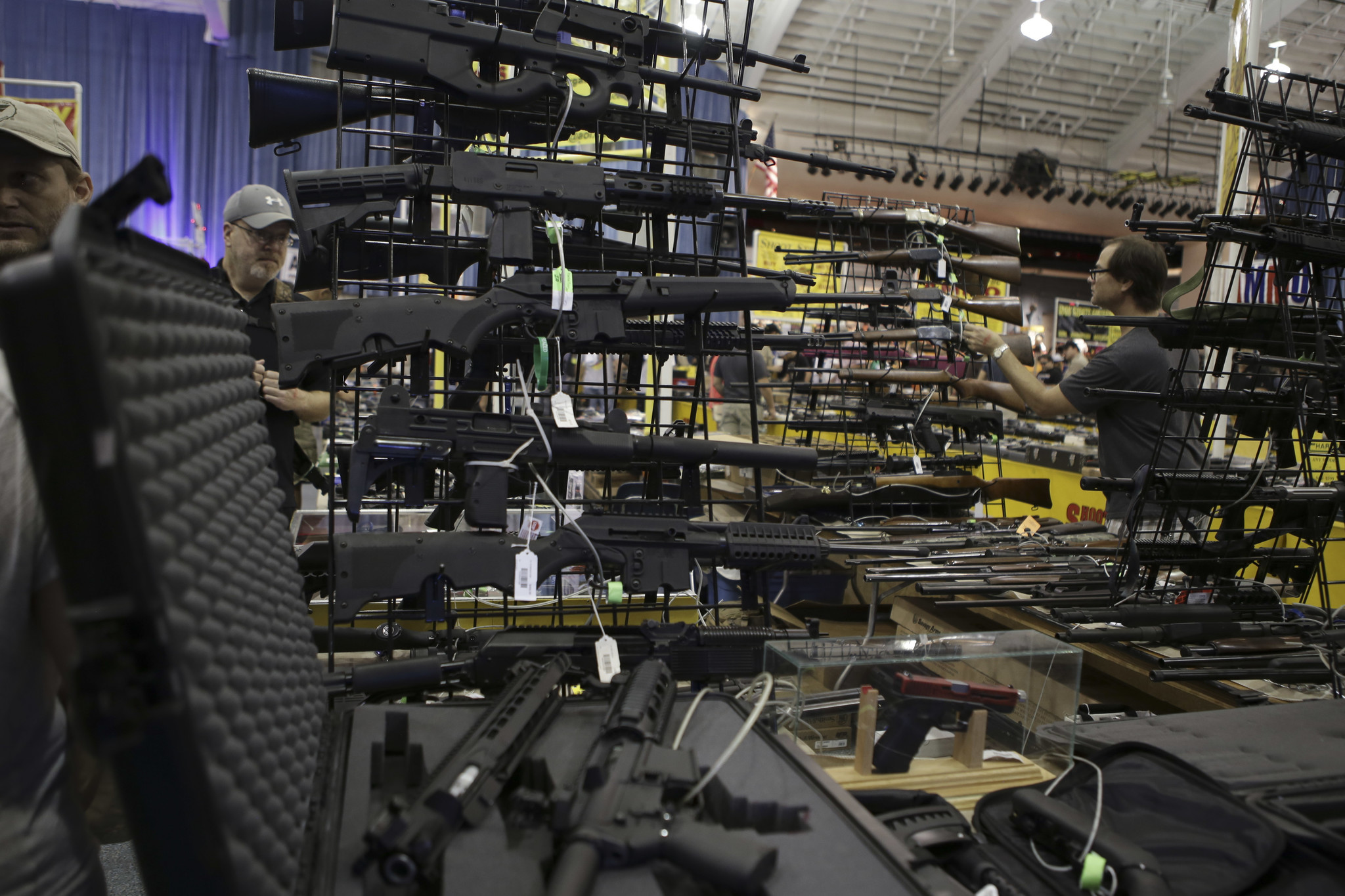 lauderdale gun show extols deadly power  not