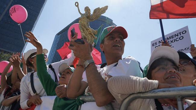 Anti-Trump protesters in Mexico City on Feb. 12, 2017.