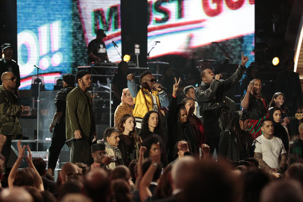 A Tribe Called Quest gave a politically charged performance at the Grammys. (Robert Gauthier / Los Angeles Times)