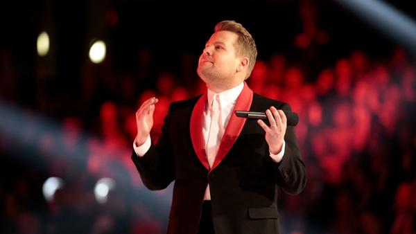 James Corden at Grammy Awards. (Robert Gauthier / Los Angeles Times)