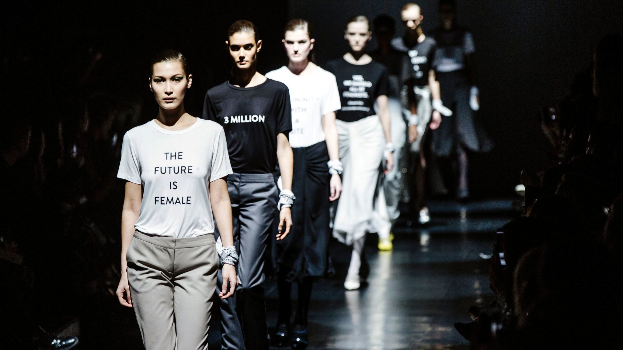 In this new era, politics is on trend on the runways at ...