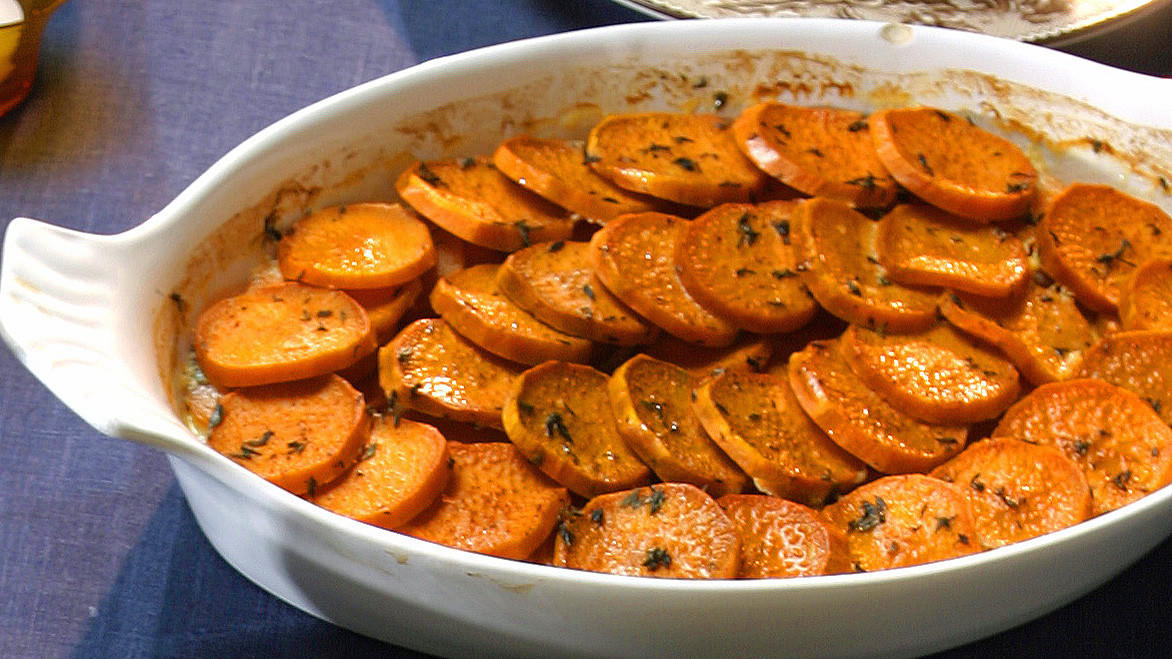 Spiced Sweet Potato Gratin Recipe — Dishmaps
