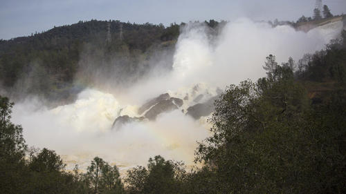 Spillway damage at Lake Oroville