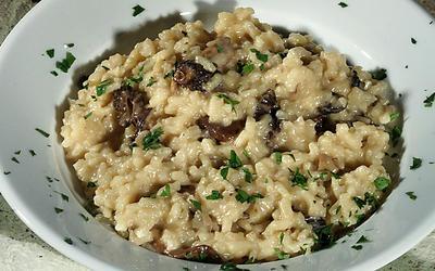 Celestino's wild mushroom risotto