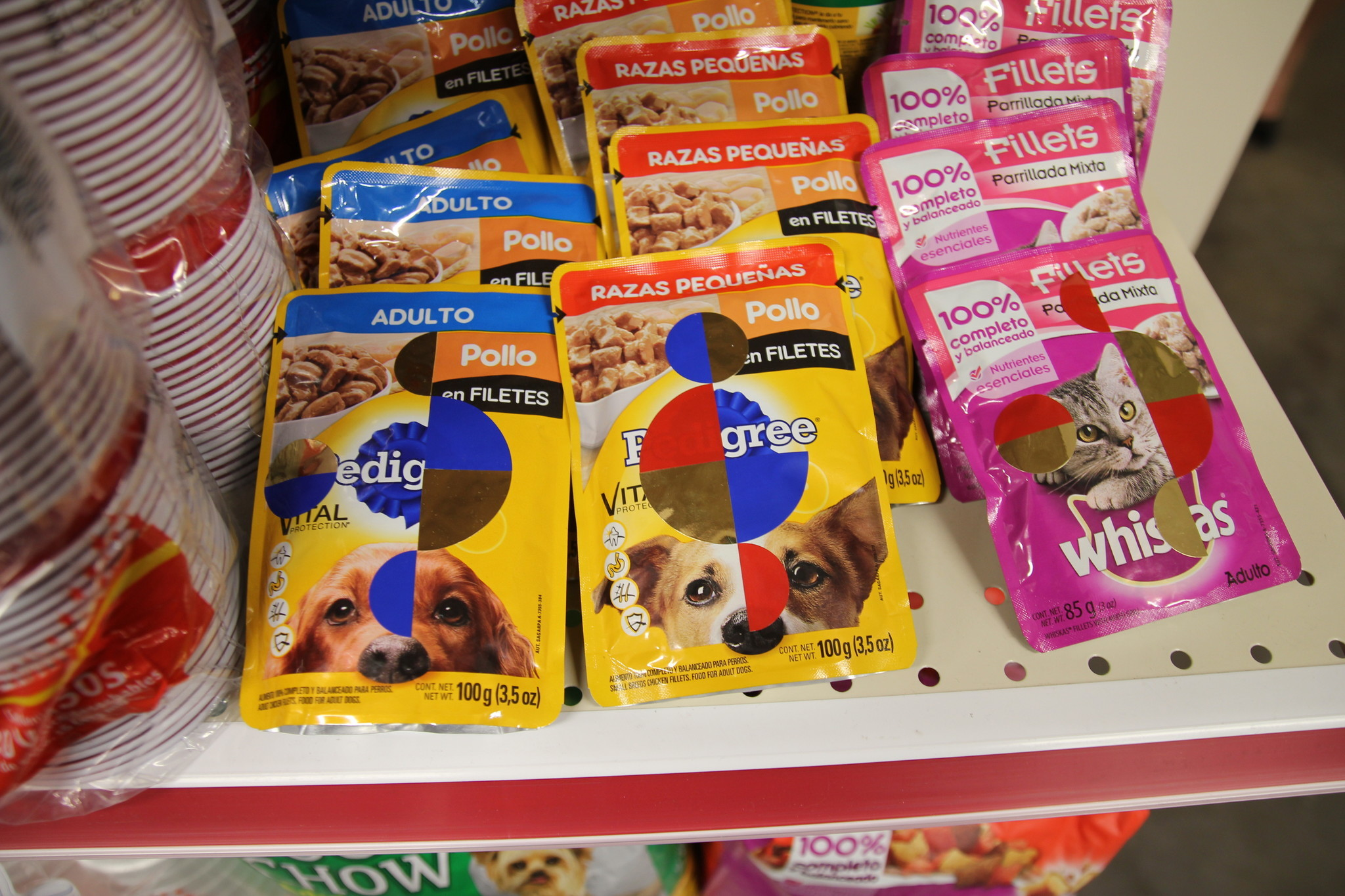 For the canine: Orozco-ized pet food.