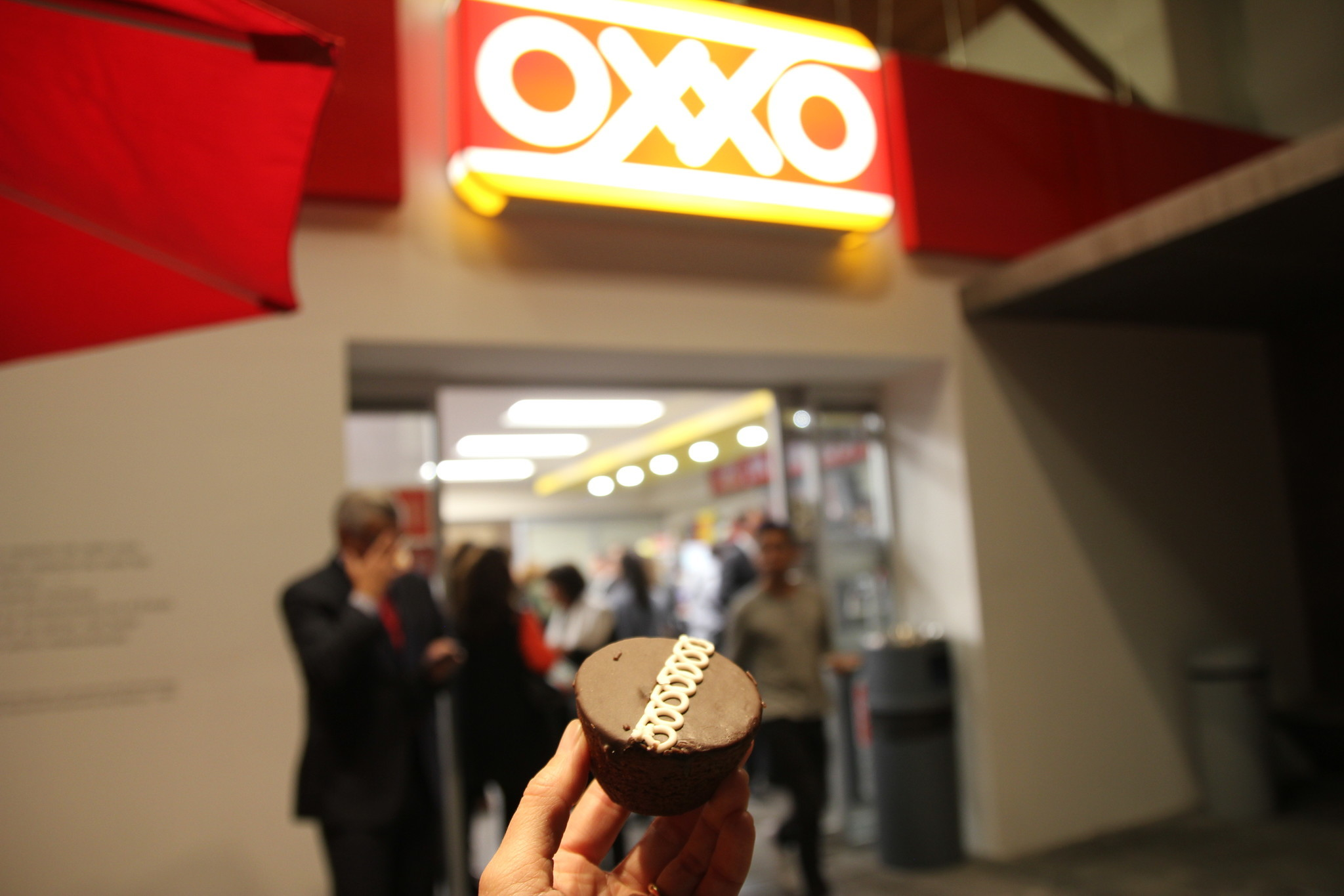 """A journalistic colleague used his """"Oroxxo"""" dollar on a bag of Pinguinos (chocolate cupcakes), which he shared with me. It paired well with all the air-kissing and white wine."""