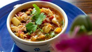 Veracruzana crab soup