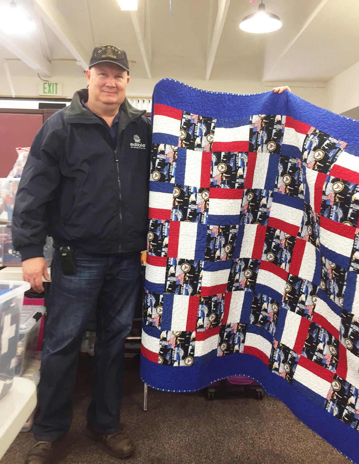 Navy veteran Jim Short, who recently received a quilt from the group.