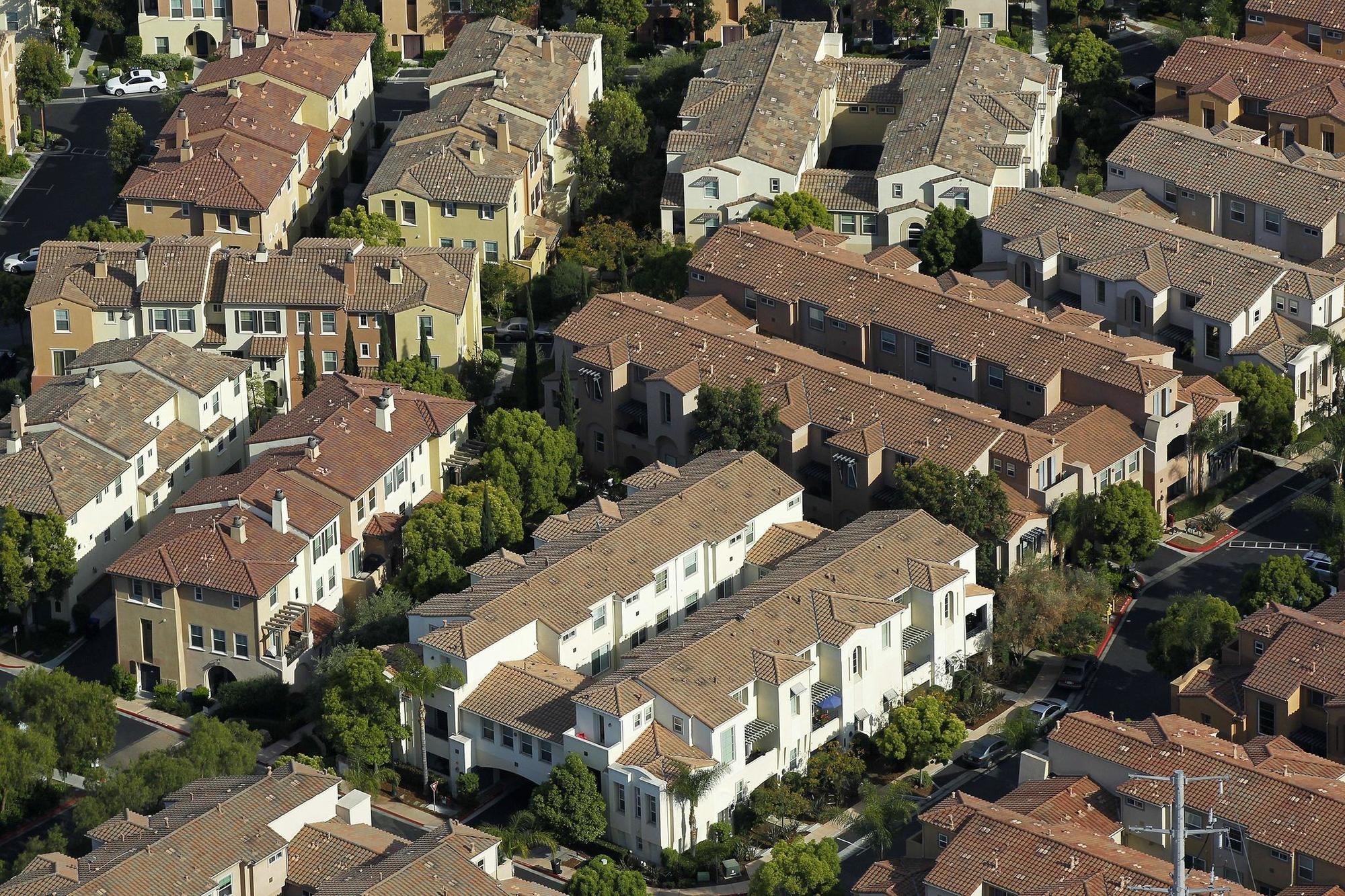 A number of new housing complexs have been built along Friars Road in Mission Valley in recent years.