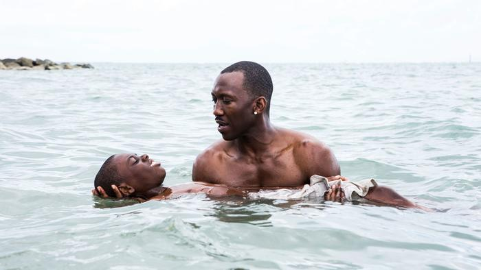 "Alex Hibbert and Mahershala Ali in ""Moonlight."" (David Bornfriend / A24)"