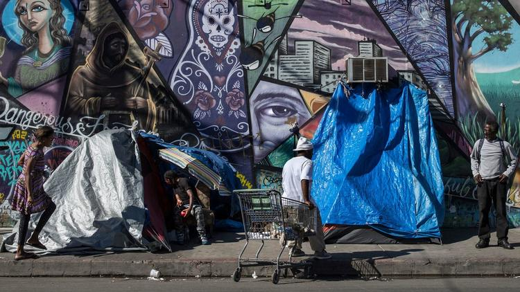 Homeless on Skid Row