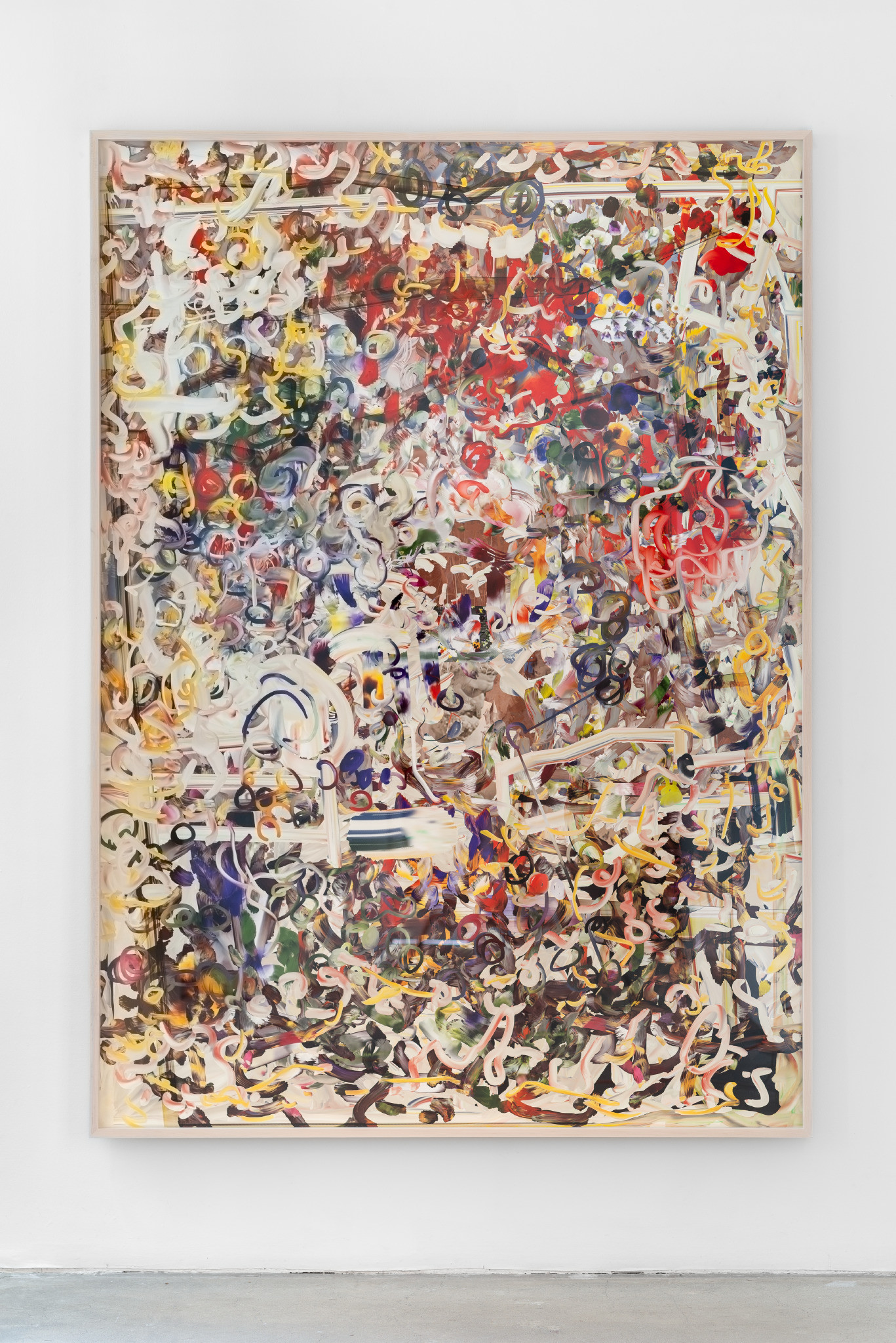 "Petra Cortright, ""man_bulbGRDNopenz@CharlesSchwaabSto9ds,"" 2016, digital painting on paper."