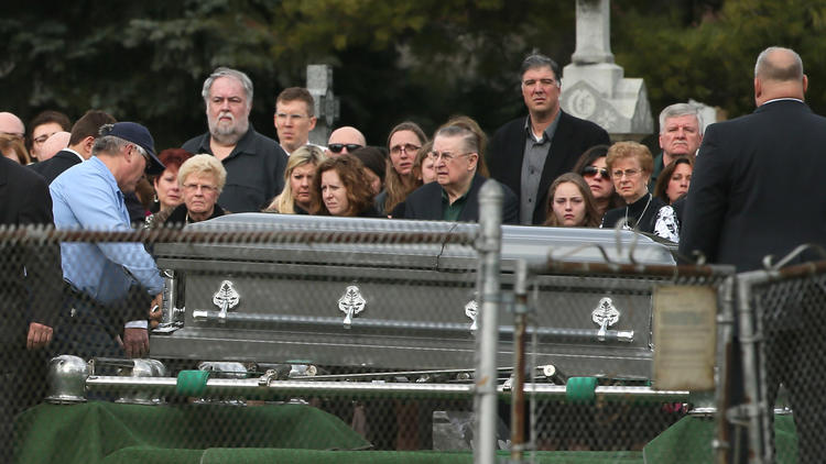 Funeral for the Crawford family