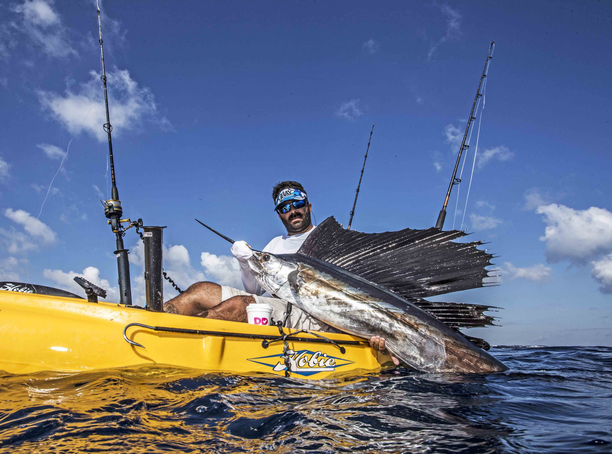 Benny scoca catches a record four sailfish to win kayak for Kayak fishing tournaments near me