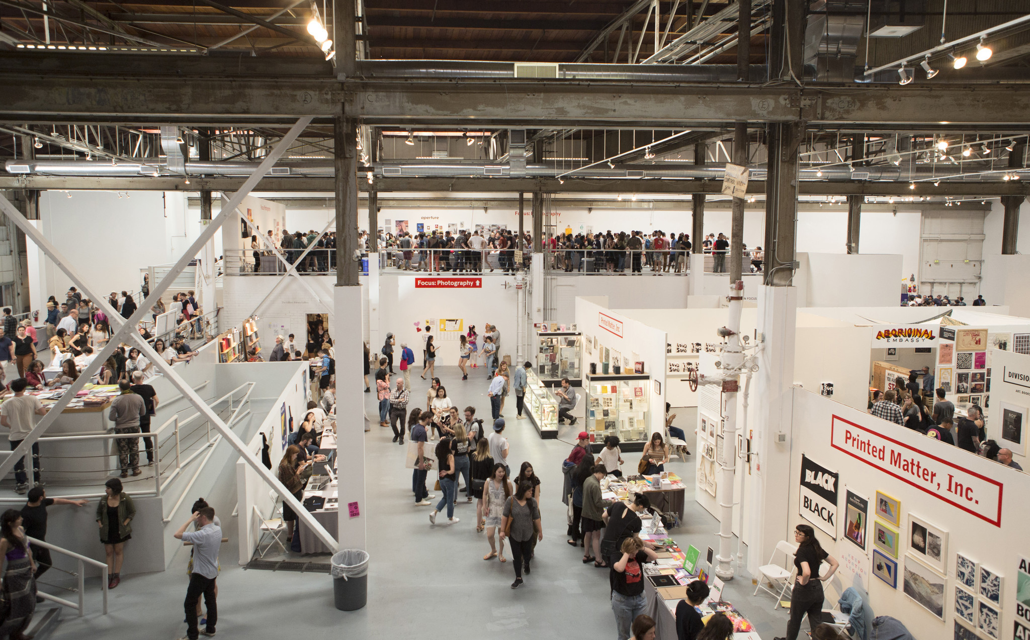 A view of the LA Art Book Fair in 2016.