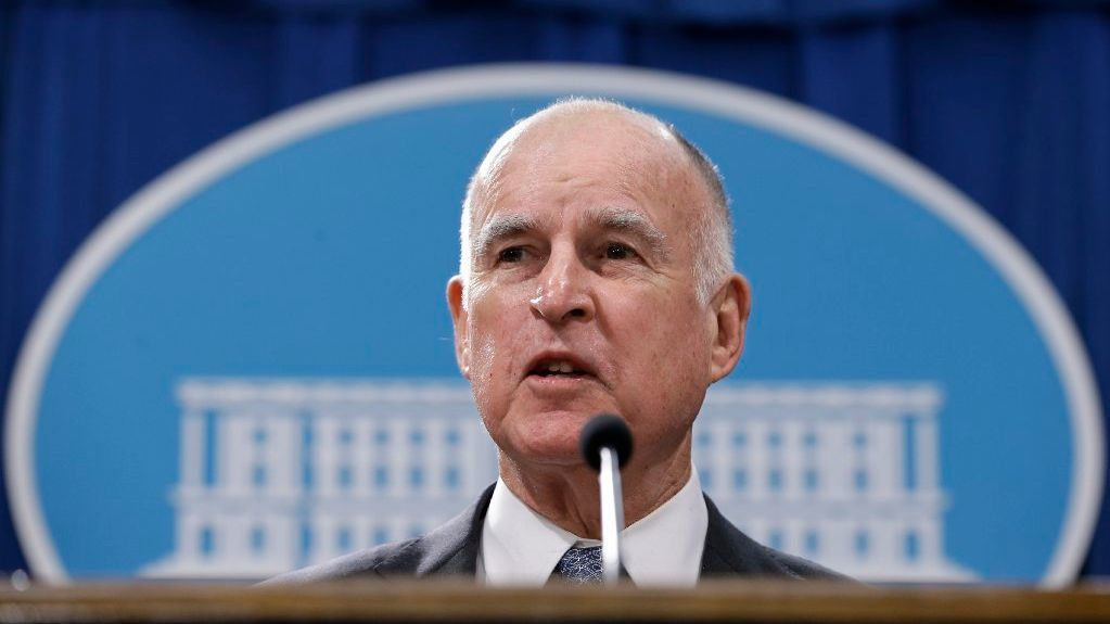 In this Jan. 10, 2017, file photo, California Gov. Jerry Brown discusses his 2017-2018 state budget plan in Sacramento, Calif.