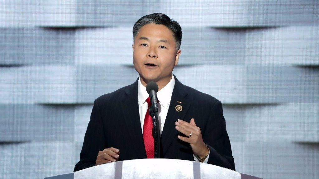 Ted Lieu (D-CA) delivers remarks on the fourth day of the Democratic National Convention at the Wells Fargo Center, July 28, 2016 in Philadelphia, Pennsylvania.