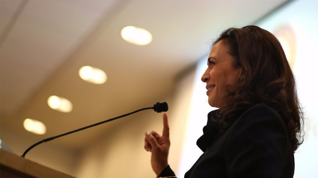 U.S. Sen. Kamala Harris (D-CA) speaks during a Policy Forum on Immigration at the California Endowment on February 22, 2017 in Los Angeles, California.