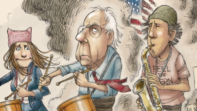 Bernie Sanders is the leaderless Democrats' anti-Trump evangelist