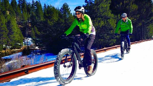 When snowboarding and skiing get old, there's snow biking