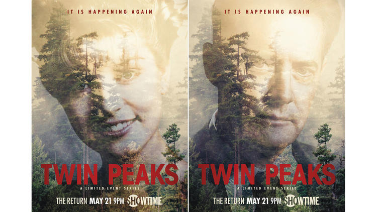 "Showtime has released two new posters for its ""Twin Peaks"" reboot. (Showtime)"