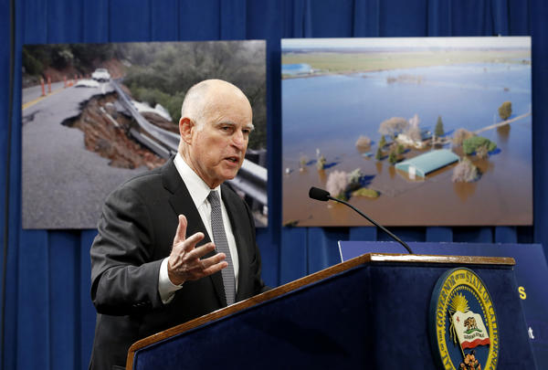 A winter's worth of storms prompts Gov. Jerry Brown to ask for $437 million in flood and emergency relief