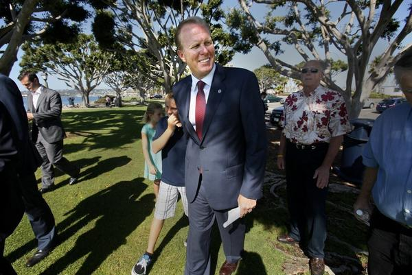 Faulconer has sought more than $1 million in donations for local causes