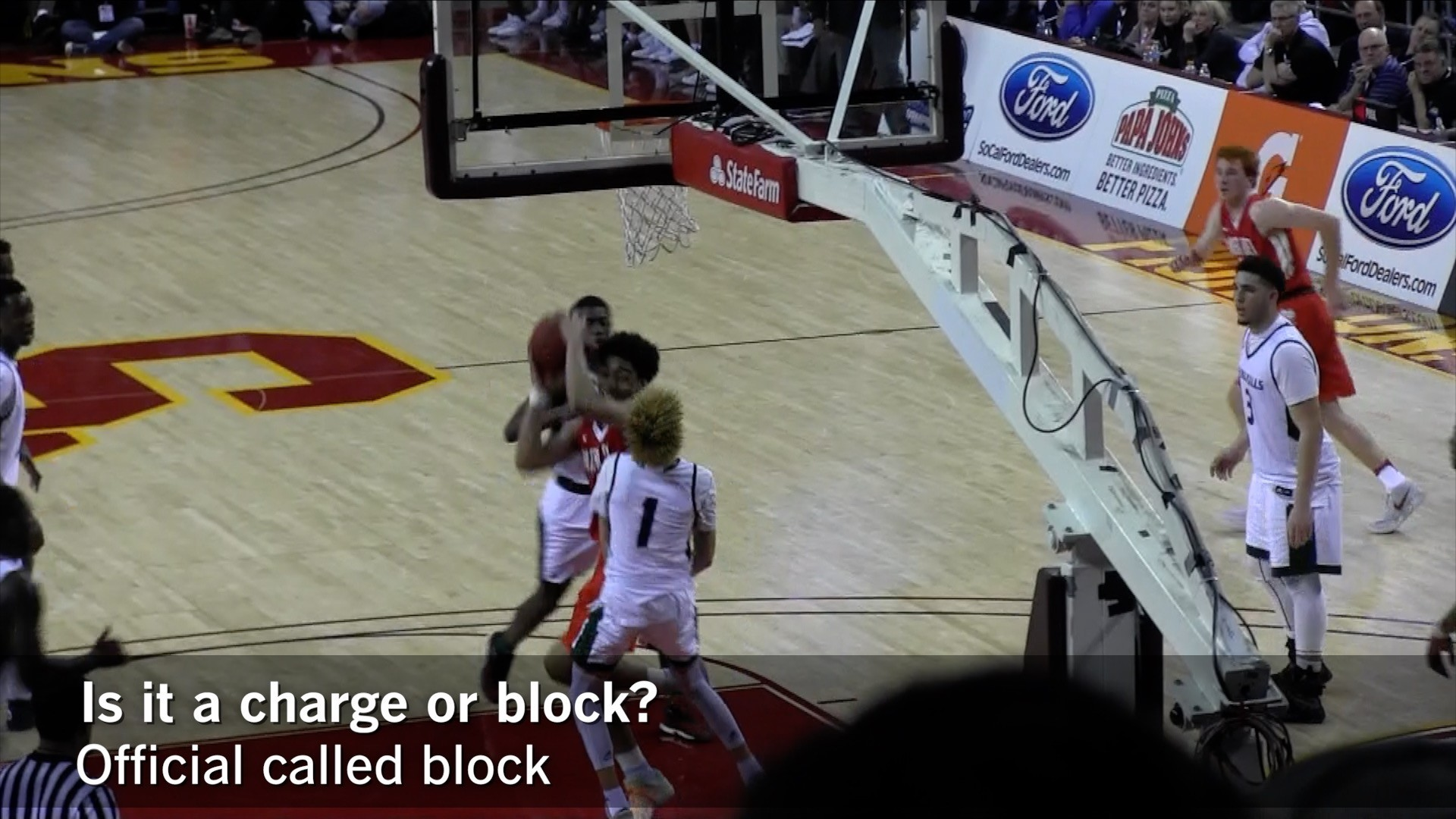 Boys' basketball: Is it a blocking or charging foul?