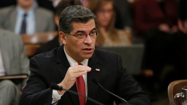 As state attorney general, Xavier Becerra gets to battle Trump — and discourage rivals in 2018
