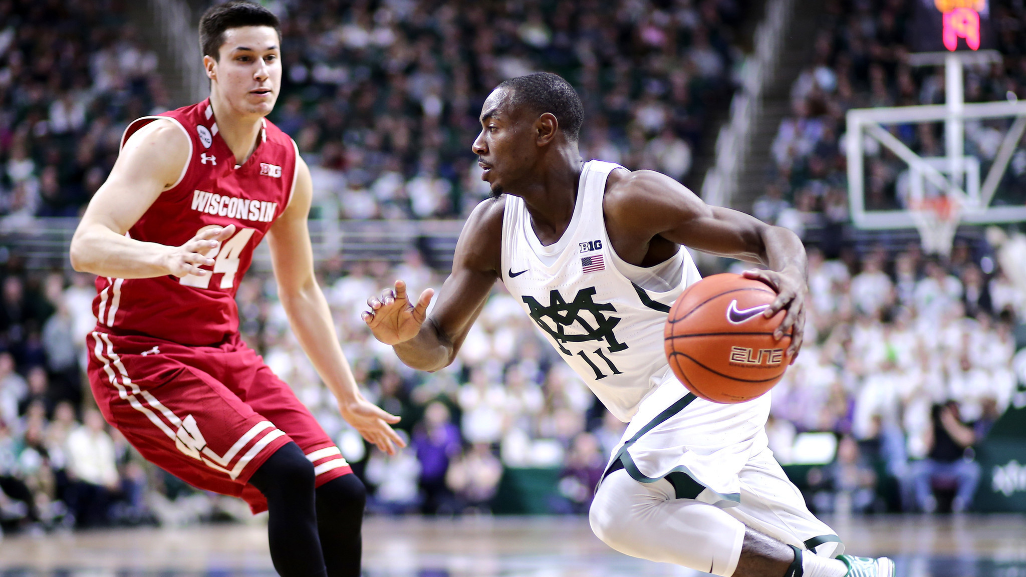 College basketball: Wisconsin drops another road game, falling to Michigan State