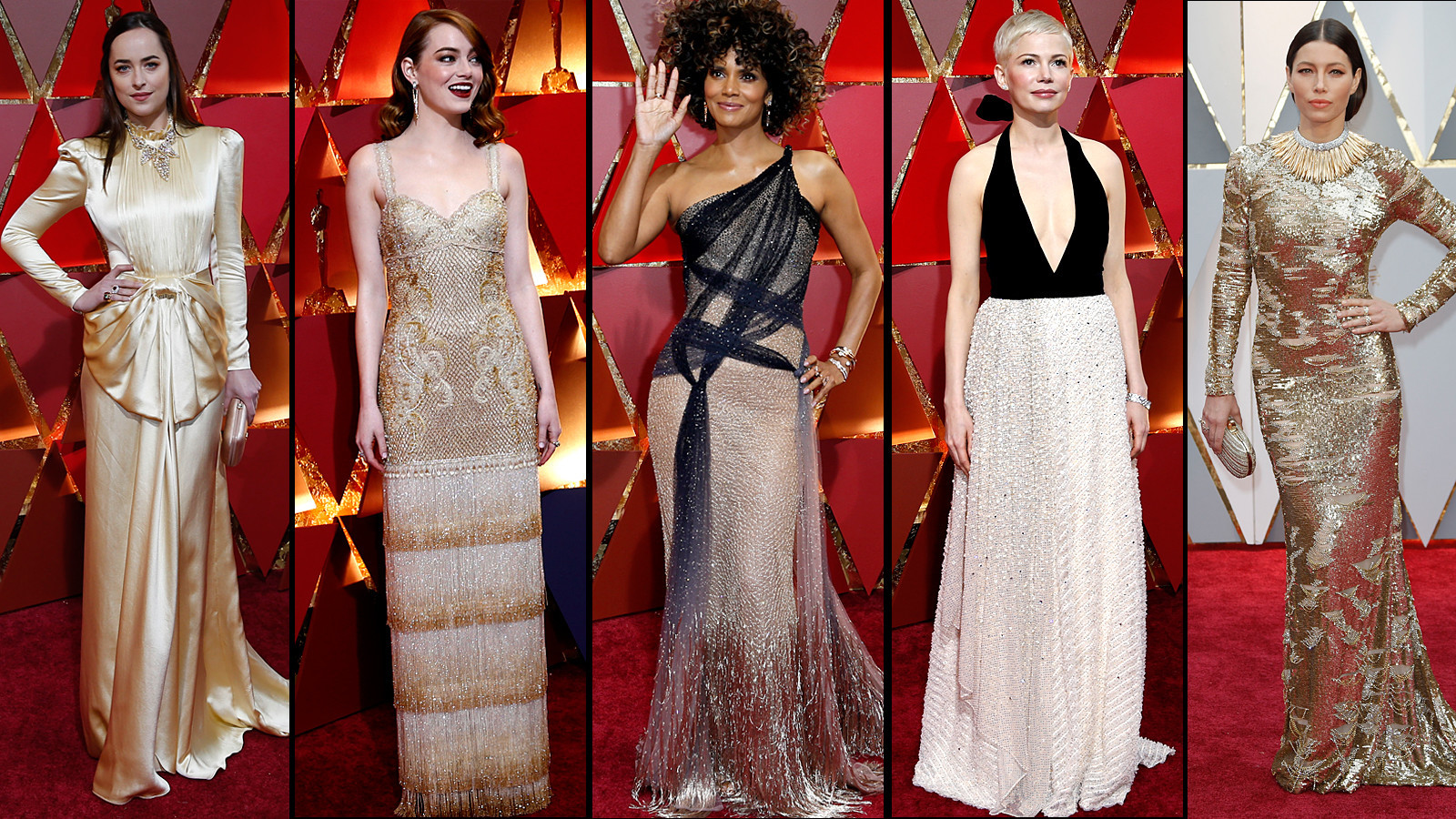 The Oscar Gold Standard Goes Fashion Forward On Red Carpet La Times