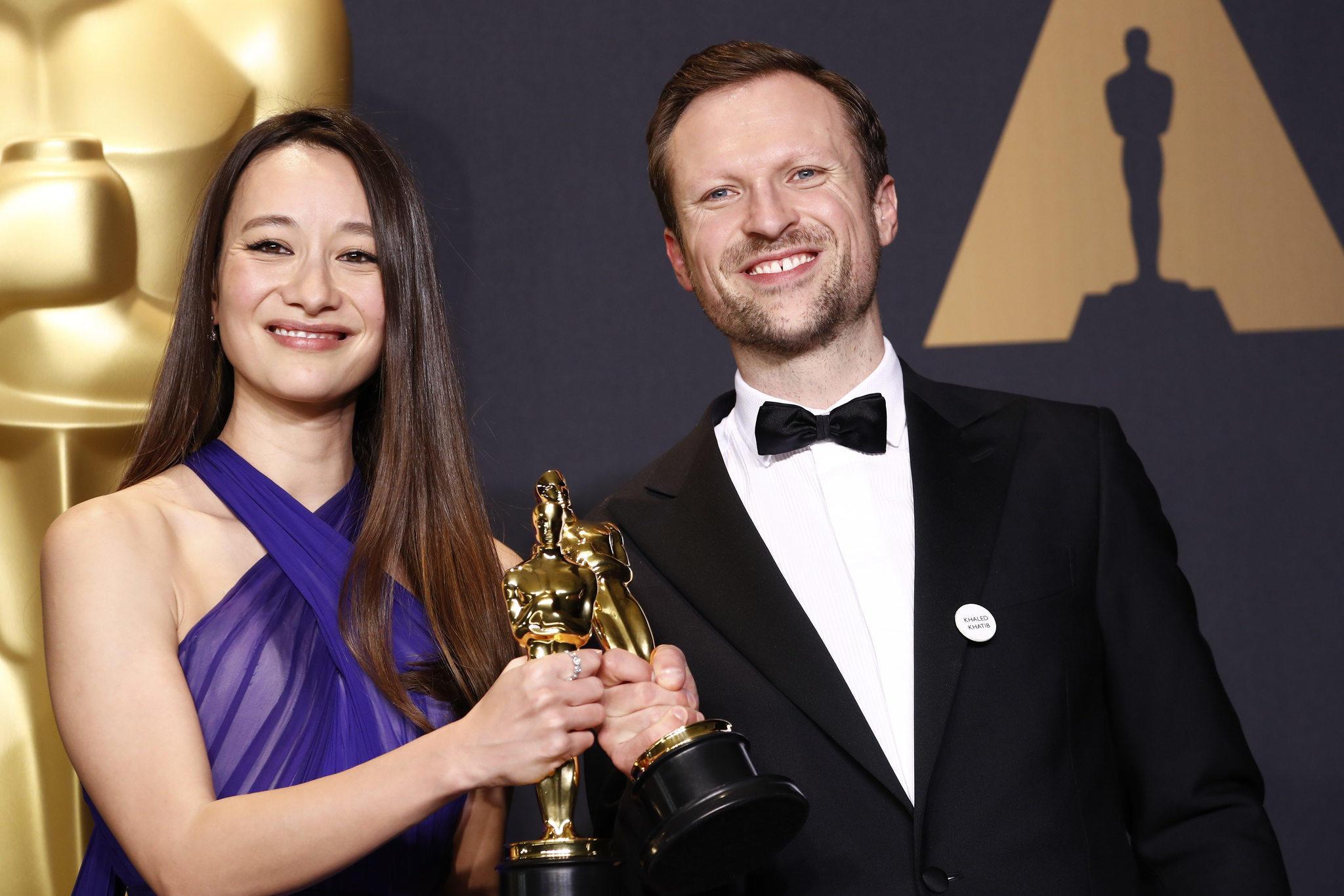 "Joanna Natasegara and Orlando Von Einsiedel won the Oscar for documentary short with ""The White"