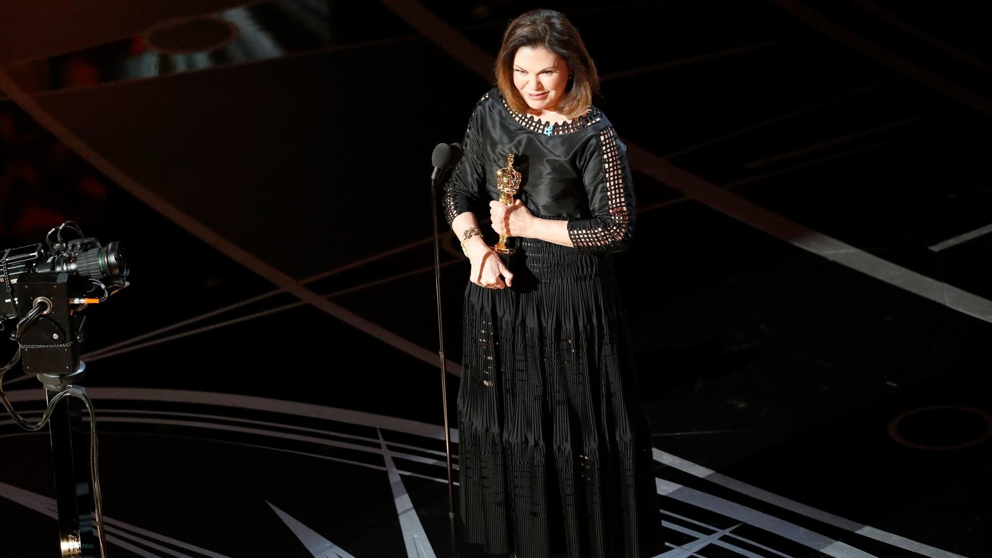 Colleen Atwood won the costume design award during the telecast of the 89th Academy Awards on Feb. 26 at the Dolby Theatre at Hollywood & Highland Center in Hollywood. None