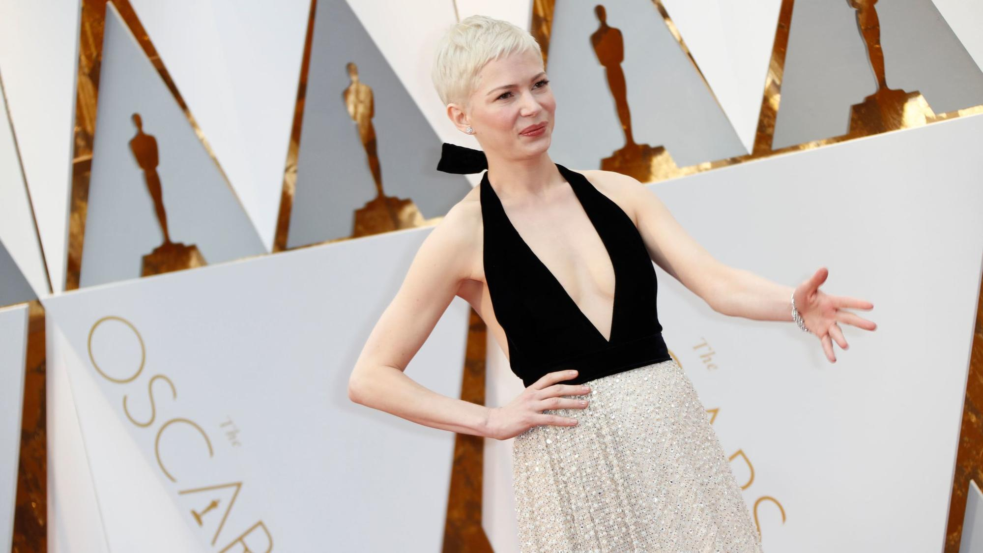 Michelle Williams appears at the 89th Academy Awards on Feb. 26. (Jay L. Clendenin / Los Angeles Times)