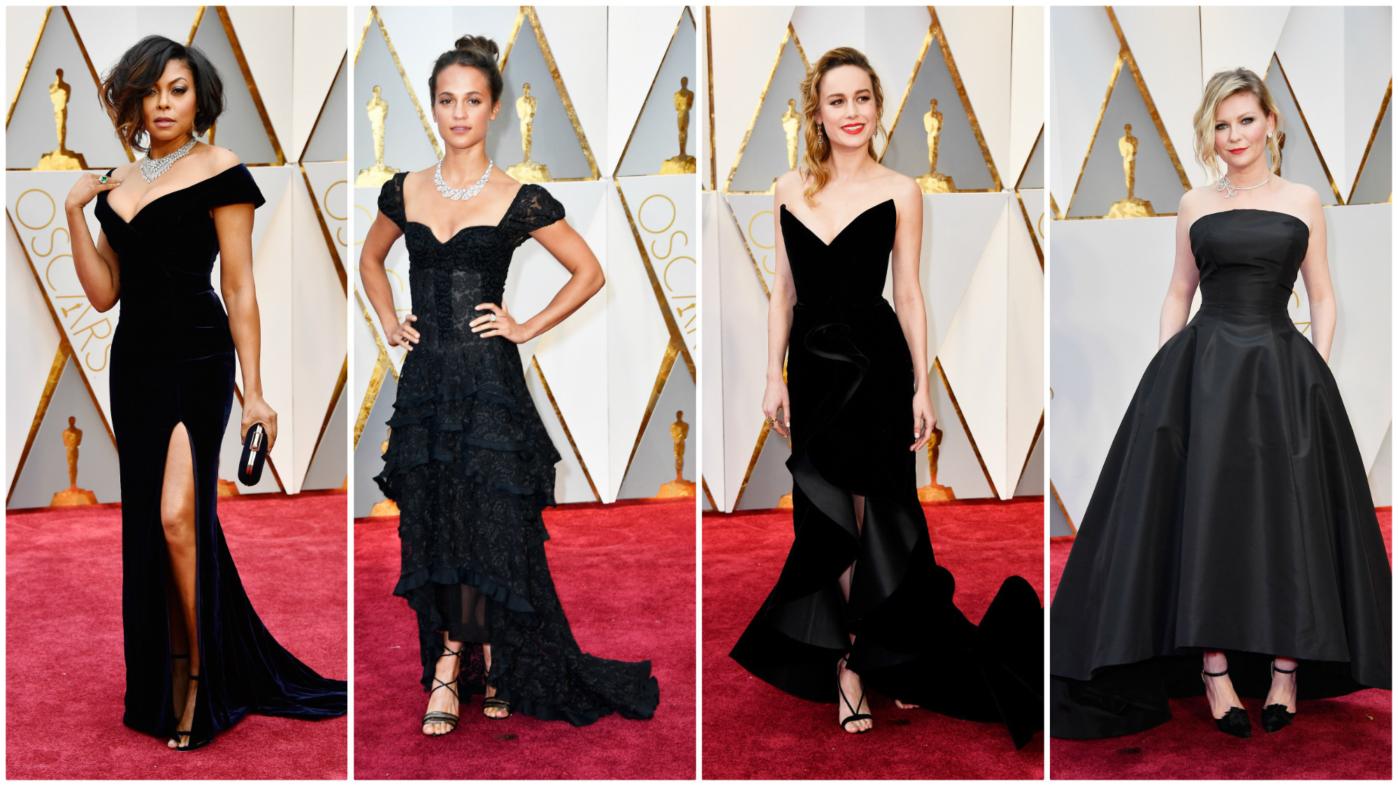 A retro rewind and glamorous gowns for the ages at the oscars la times - Red carpet oscar dresses ...