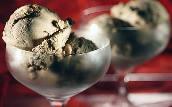 Chocolate-hazelnut swirl ice cream