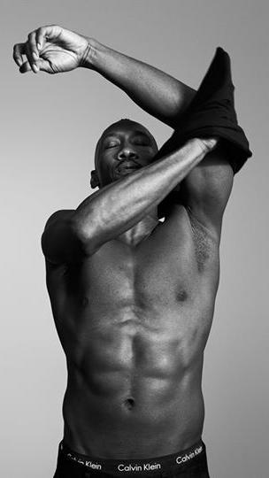 "Calvin Klein's spring 2017 men's underwear campaign features Oscar-winning ""Moonlight"" actor Mahershala Ali donning the 100% cotton crew neck T-shirt. (Calvin Klein)"