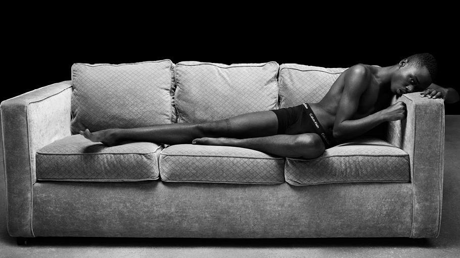 "Calvin Klein's spring 2017 men's underwear campaign features ""Moonlight"" actor Ashton Sanders in a cotton stretch boxer brief. (Calvin Klein)"