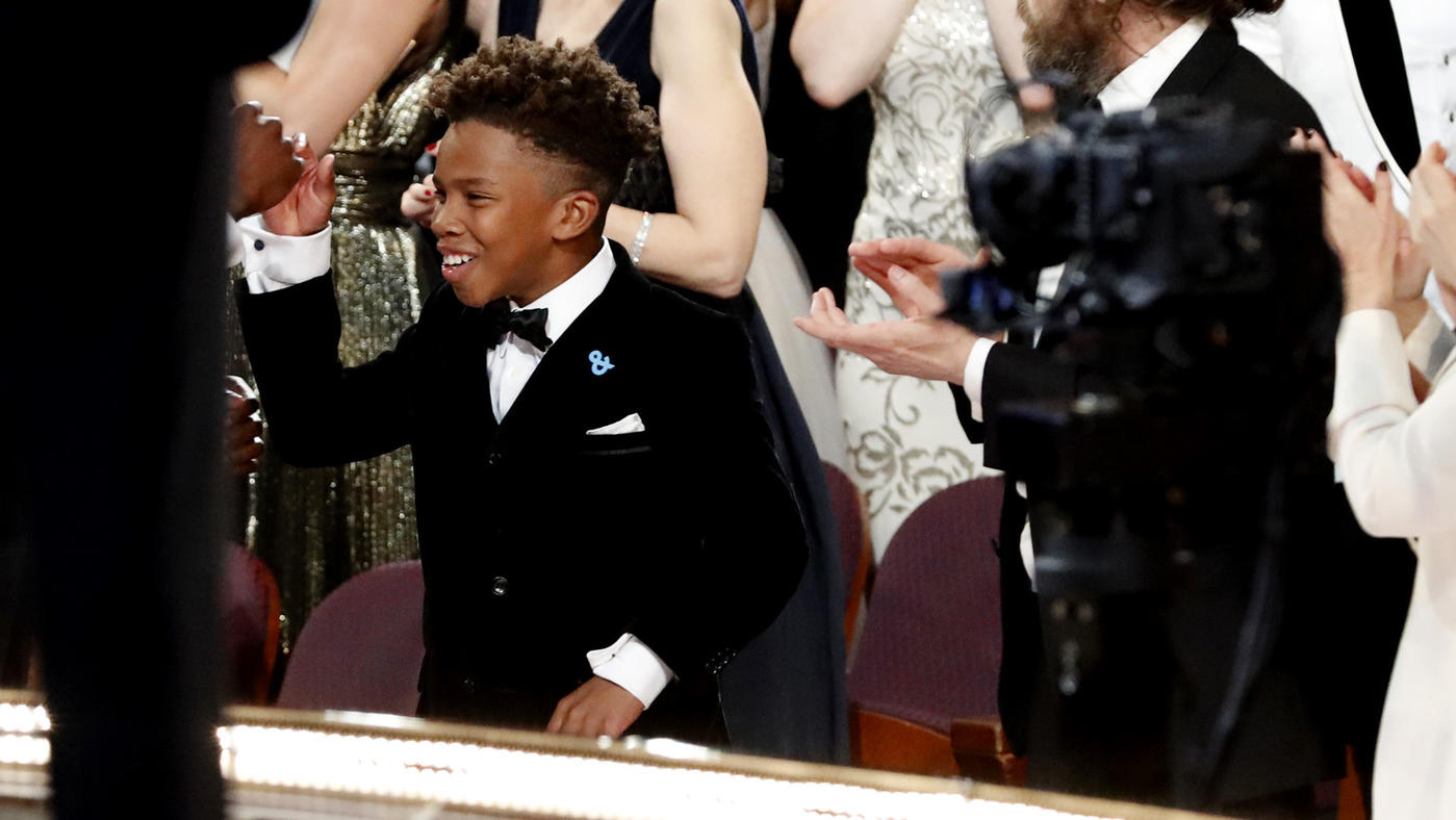 """Jaden Piner of """"Moonlight"""" takes the stage. (Al Seib / Los Angeles Times)"""