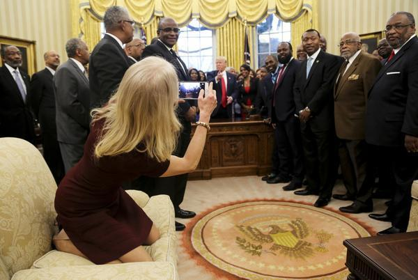 Kellyanne Conway's feet on the couch — does it really matter?