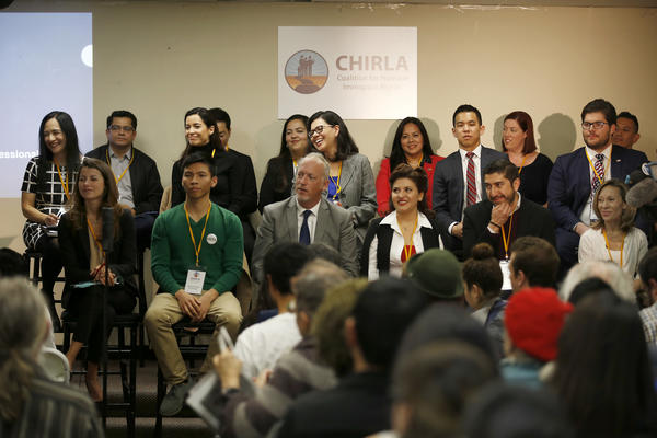 Some of the hopefuls running for the 34th Congressional District appeared at a candidate forum Saturday. (Francine Orr / Los Angeles Times)