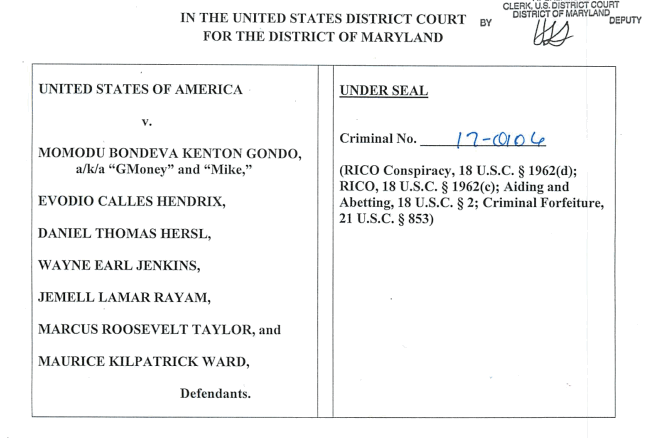 Document: Indictment against seven Baltimore Police officers - Baltimore Sun